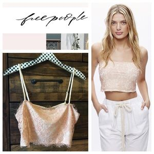 0e52dd3f29 Free People Tops - NWT  FREE PEOPLE  Lace Pretty Pink Cream Bralette
